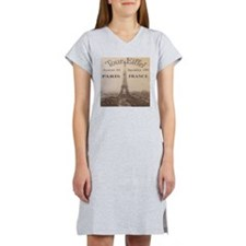 VINTAGE EIFFEL TOWER Women's Nightshirt