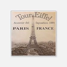 "VINTAGE EIFFEL TOWER Square Sticker 3"" x 3"""