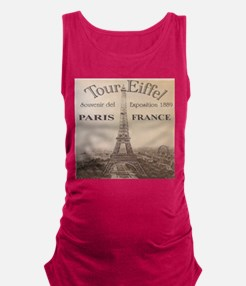 VINTAGE EIFFEL TOWER Maternity Tank Top
