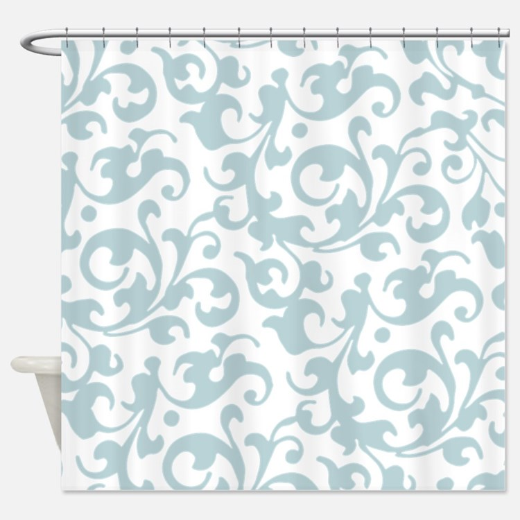 Pale Aqua Shower Curtains