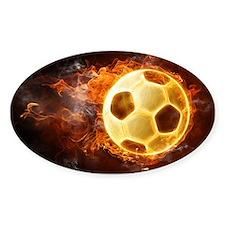Fire Soccer Ball Decal