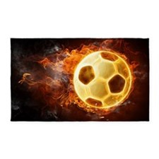 Fire Soccer Ball 3'x5' Area Rug