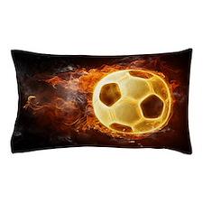 Fire Soccer Ball Pillow Case