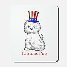 Patriotic Westie Mousepad
