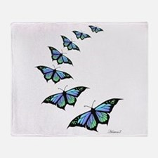 Funny Butterfly Throw Blanket