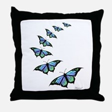 Unique Blue butterfly Throw Pillow