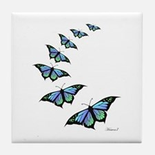 Unique Butterfly Tile Coaster