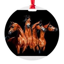 Funny Arabian horses Ornament