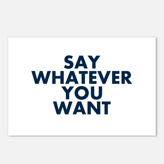 Say Whatever You Want Postcards (Package of 8)