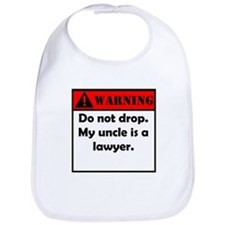 Warning My Uncle Is A Lawyer Bib