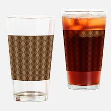 Warm Brown Diamond Pattern Drinking Glass