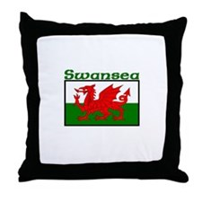 Swansea, Wales Throw Pillow