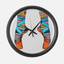 Cute Ballet Large Wall Clock