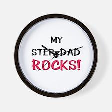 My STEP-DAD ROCKS! Wall Clock