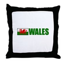 Wales Flag Throw Pillow