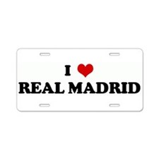 Cute Real madrid Aluminum License Plate