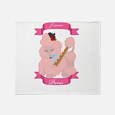 Unique Pink poodle Throw Blanket