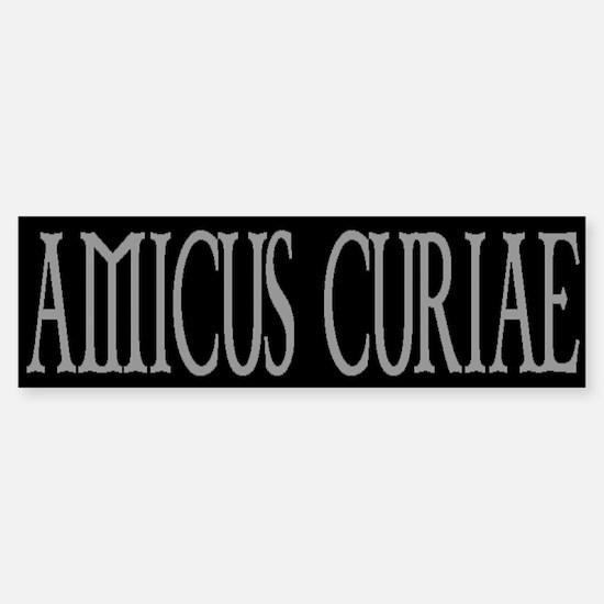 AMICUS CURIAE Bumper Bumper Bumper Sticker