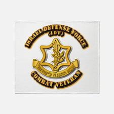 Israel Defense Force - IDF - Cbt Vet Throw Blanket