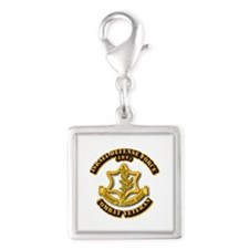 Israel Defense Force - IDF - Silver Square Charm