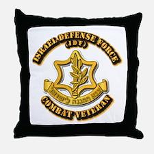 Israel Defense Force - IDF - Cbt Vet Throw Pillow