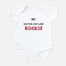 My SISTER-IN-LAW ROCKS! Infant Bodysuit