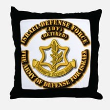 Israel Defense Force - IDF - Retired Throw Pillow