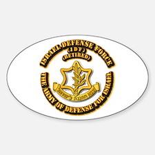 Israel Defense Force - Idf - Retire Sticker (oval)