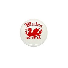 Wales Mini Button (10 pack)