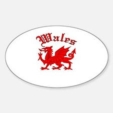 Wales Oval Decal