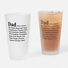 Dad definition Drinking Glass