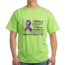 D Brother Means World To Me 2 H Lymphoma T-Shirt
