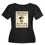 Viva Zapata! Women's Plus Size Scoop Neck Dark T-S