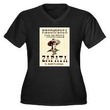 Viva Zapata! Women's Plus Size V-Neck Dark T-Shirt
