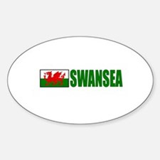 Swansea, Wales Oval Decal