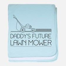 Daddy's future lawn mower baby blanket