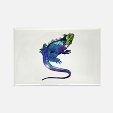 Polygon Mosaic Purple, Blue & Green Iguana Lizard