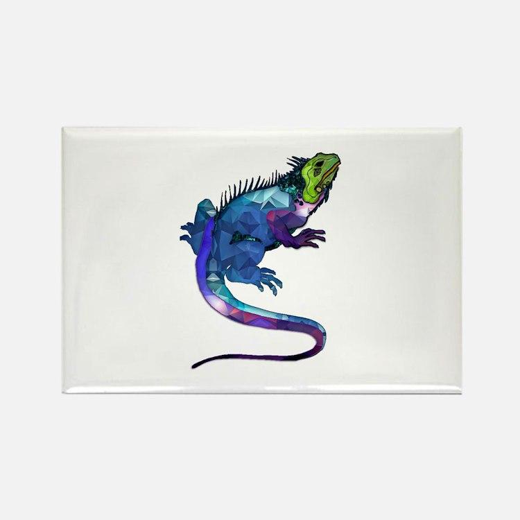 Polygon Mosaic Purple, Blue & Green Iguana Lizard