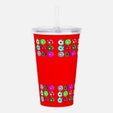 Soccer Red For Fred Acrylic Double-Wall Tumbler