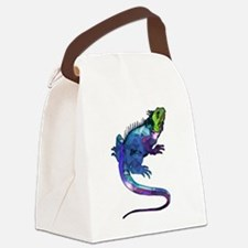 Cute Lizards Canvas Lunch Bag