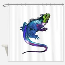 Funny Lizard Shower Curtain
