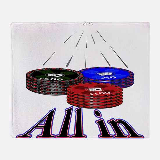 Cute Poker Throw Blanket
