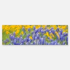 Dancing Flowers Sticker (Bumper)
