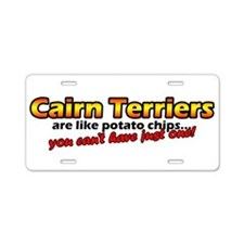 Cute Funny cairn terrier Aluminum License Plate