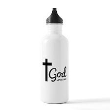 God Loves Me Water Bottle