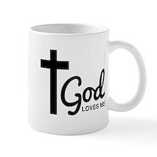 God Loves Me Mugs