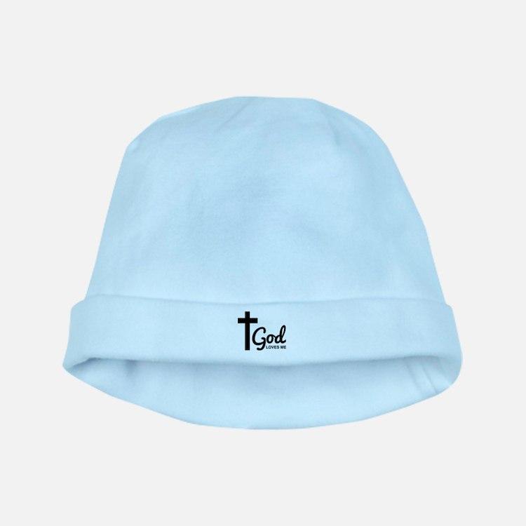 God Loves Me baby hat
