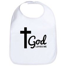 God Loves Me Bib
