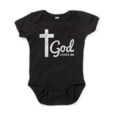 God Loves Me Baby Bodysuit
