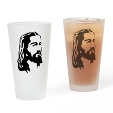 Jesus Face Drinking Glass